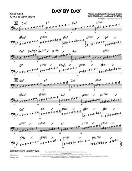 Day by Day - Bass Clef Solo Sheet