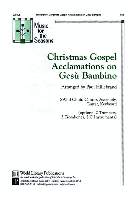 Christmas Gospel Acclamations on Gesu Bambino