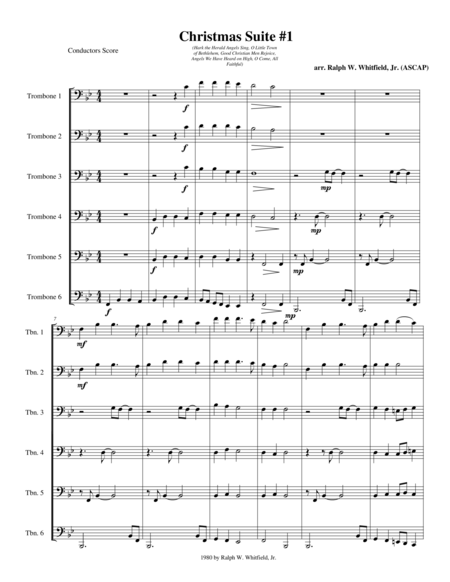 Christmas Suite #1 for Trombone Sextet/Ensemble