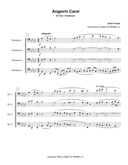 Angevin Carol - Trombone Quartet