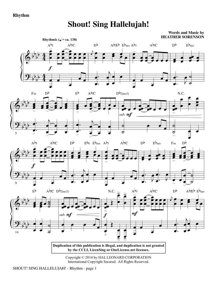 Shout! Sing Hallelujah! - Rhythm
