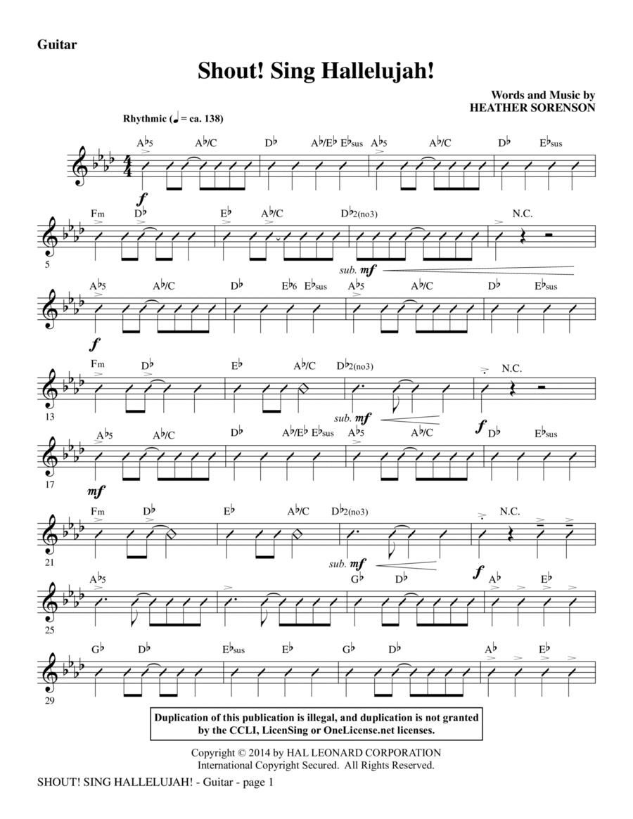 Shout! Sing Hallelujah! - Guitar