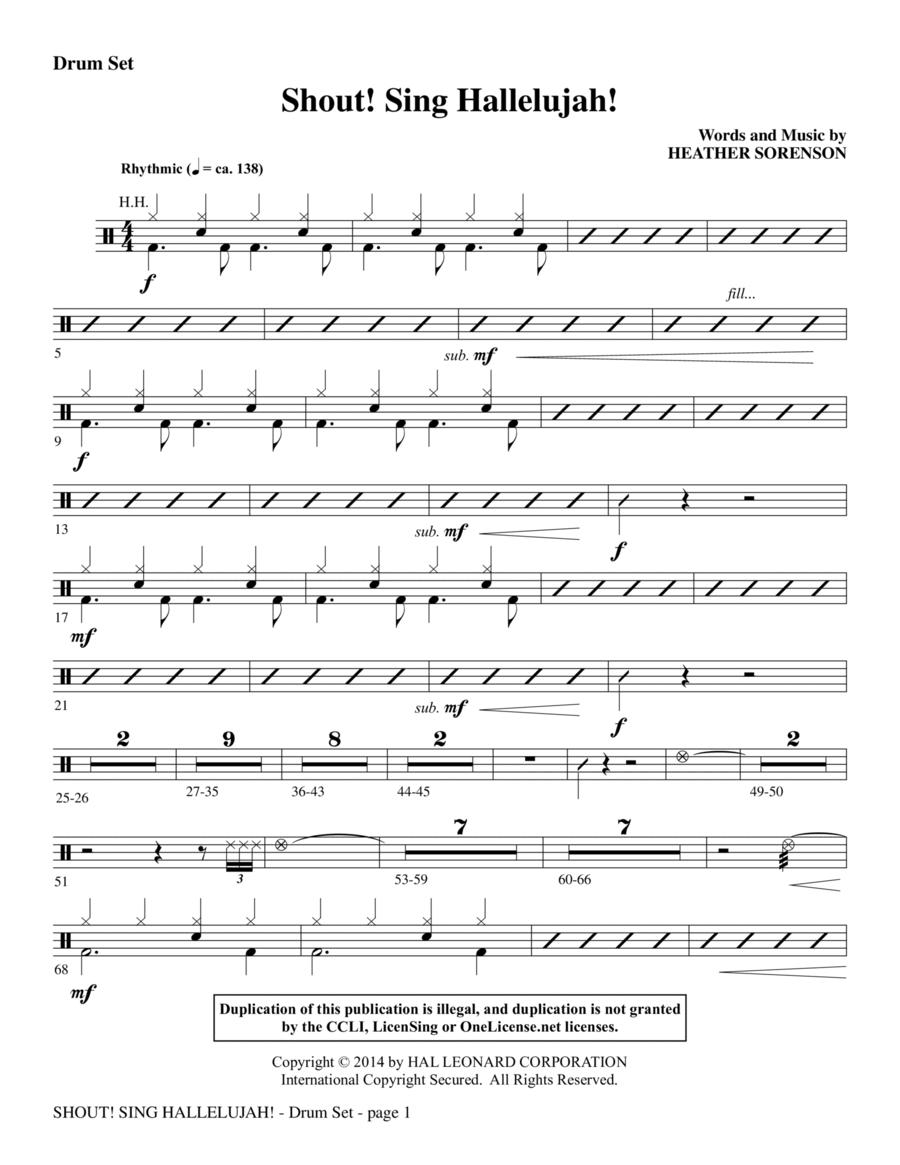 Shout! Sing Hallelujah! - Drums