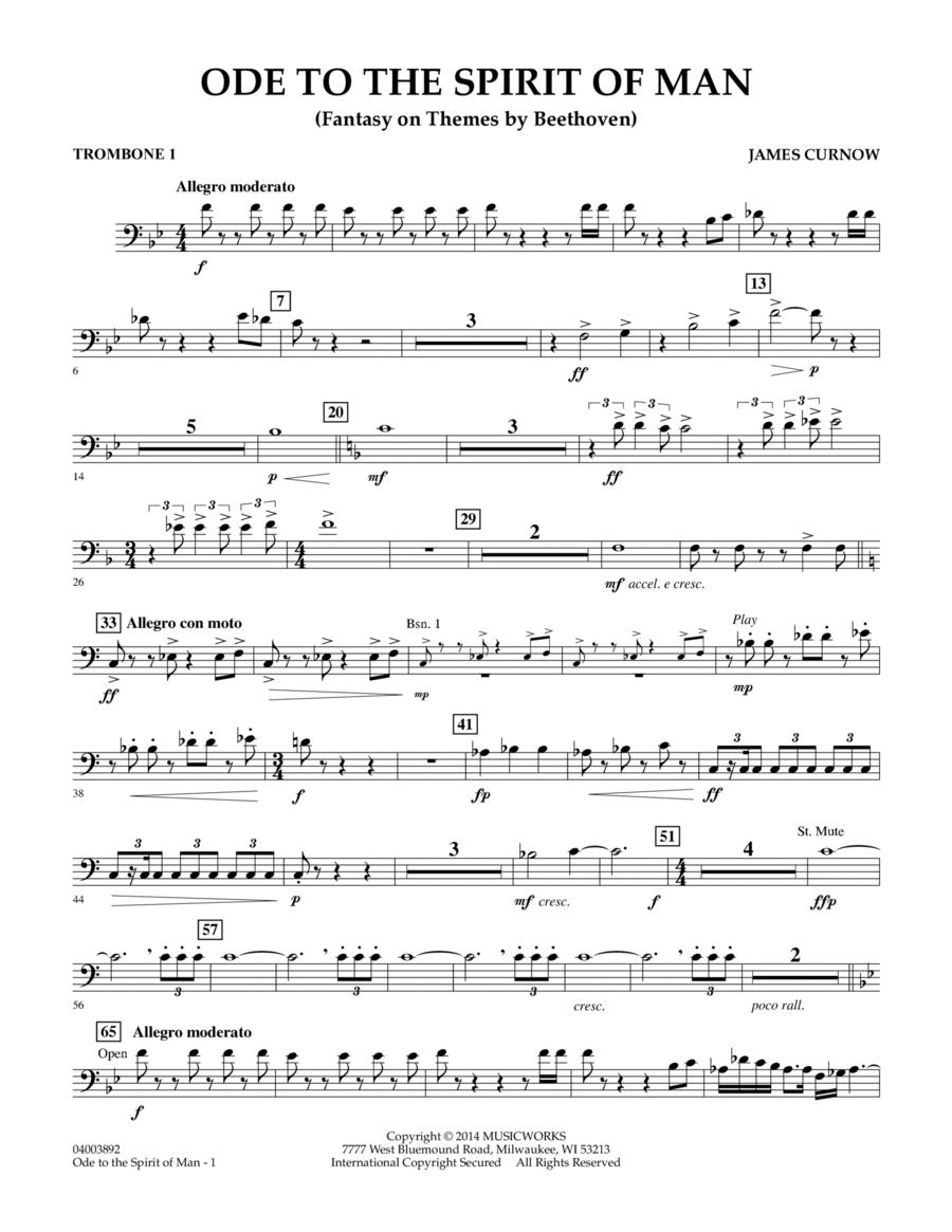 Ode to the Spirit of Man - Trombone 1