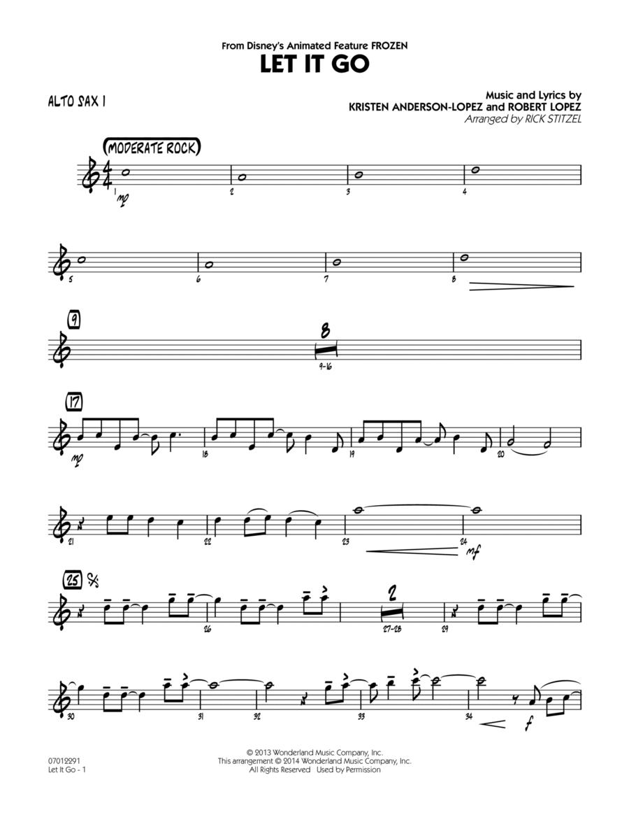 Let It Go (from Frozen) - Alto Sax 1