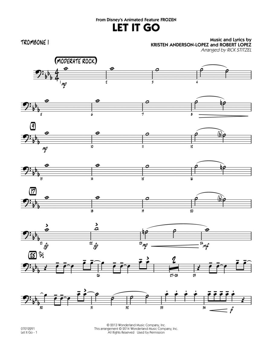 Let It Go (from Frozen) - Trombone 1