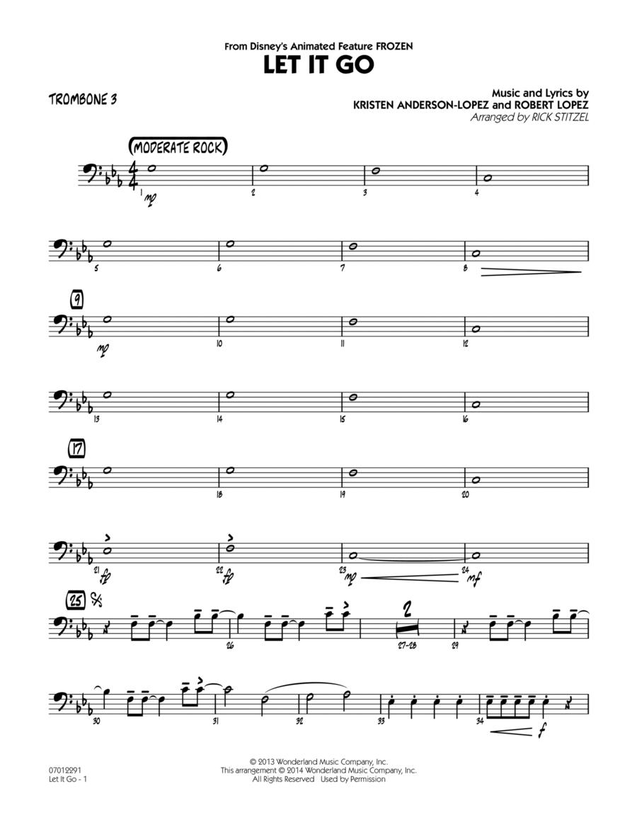 Let It Go (from Frozen) - Trombone 3