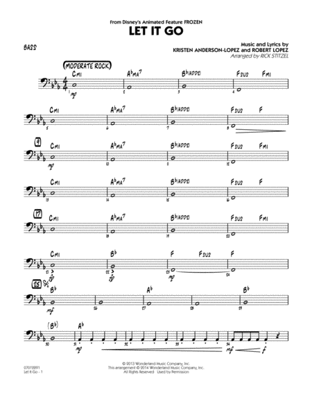 Let It Go (from Frozen) - Bass
