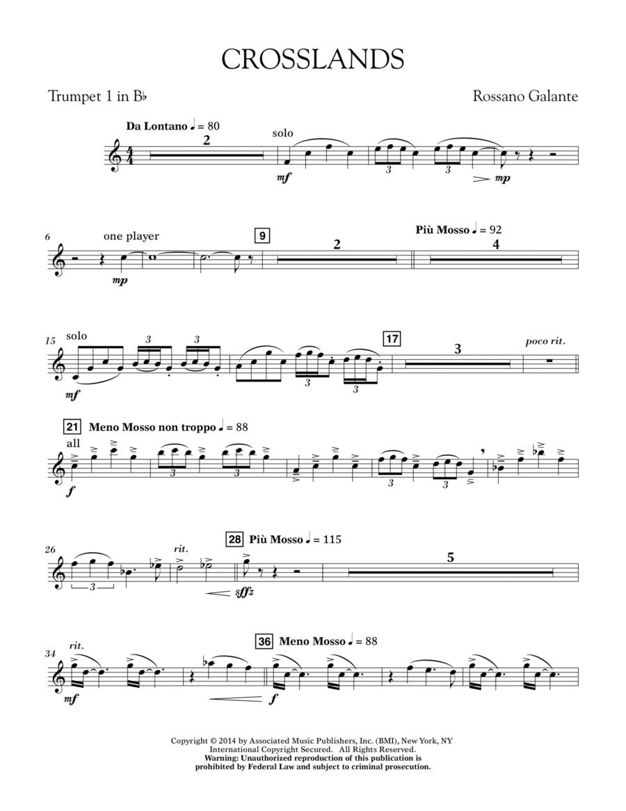Crosslands - Bb Trumpet 1