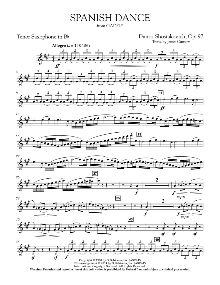 Spanish Dance (from The Gadfly) - Bb Tenor Saxophone