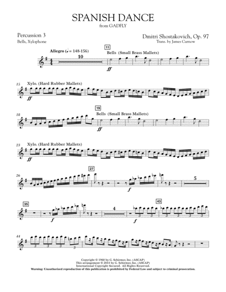 Spanish Dance (from The Gadfly) - Percussion 3