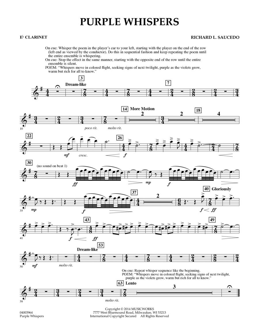 Purple Whispers - Eb Clarinet