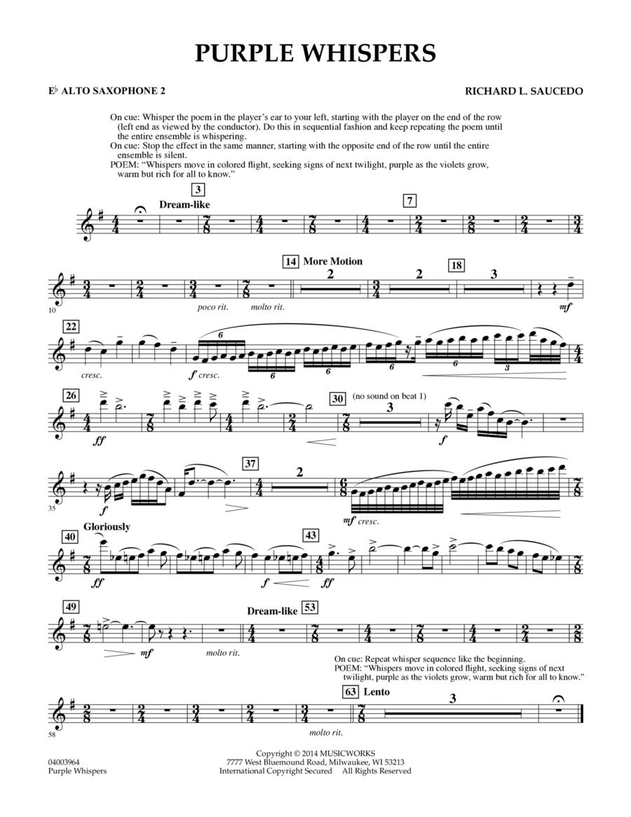 Purple Whispers - Eb Alto Saxophone 2