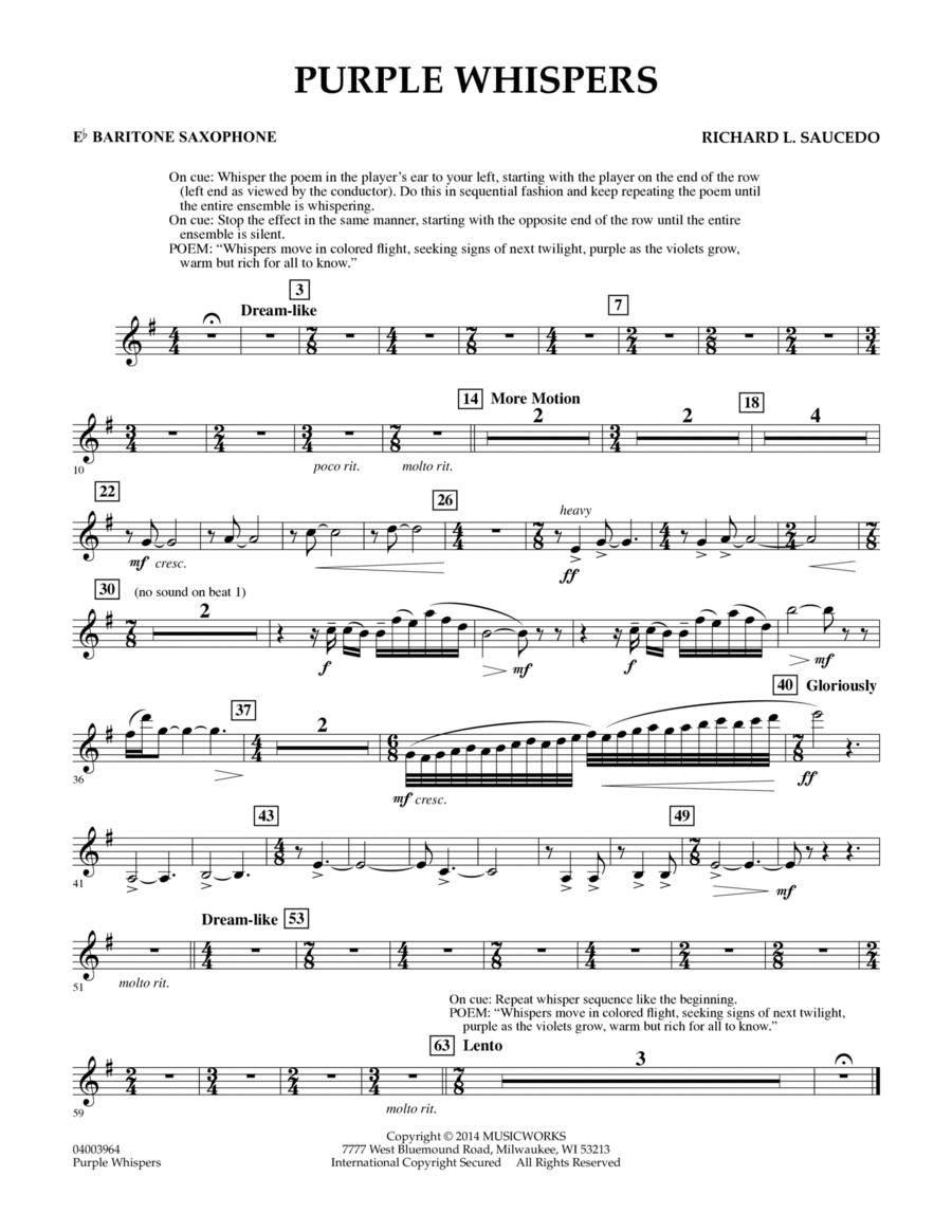 Purple Whispers - Eb Baritone Saxophone