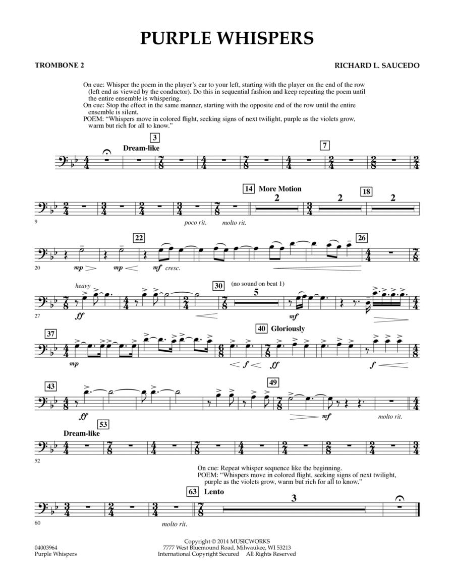 Purple Whispers - Trombone 2
