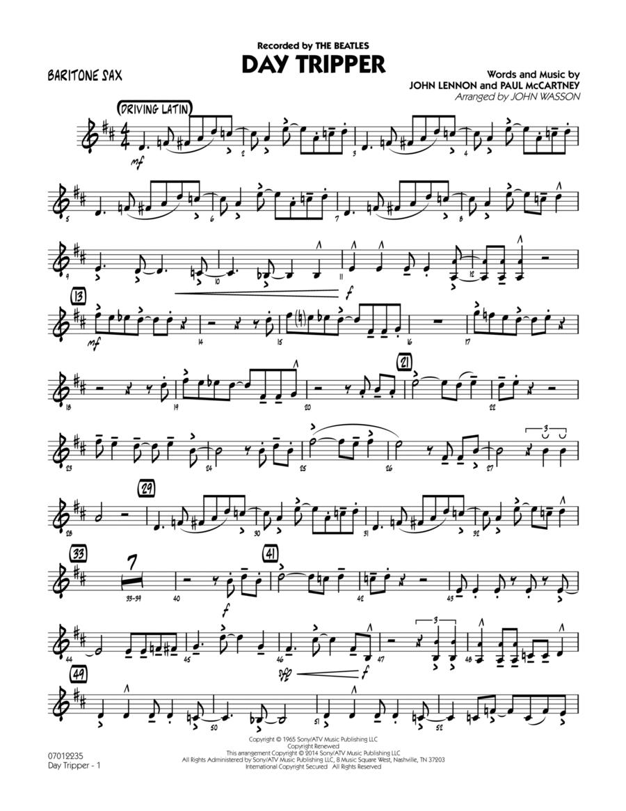 Day Tripper - Baritone Sax