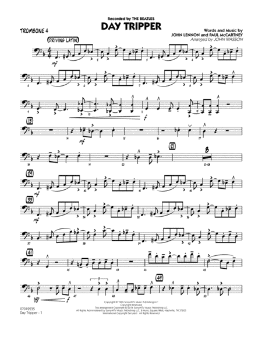 Day Tripper - Trombone 4