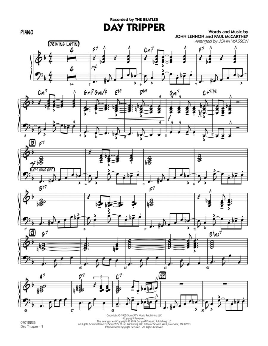 Day Tripper - Piano