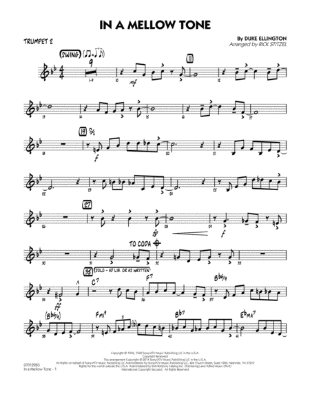 In a Mellow Tone - Trumpet 2