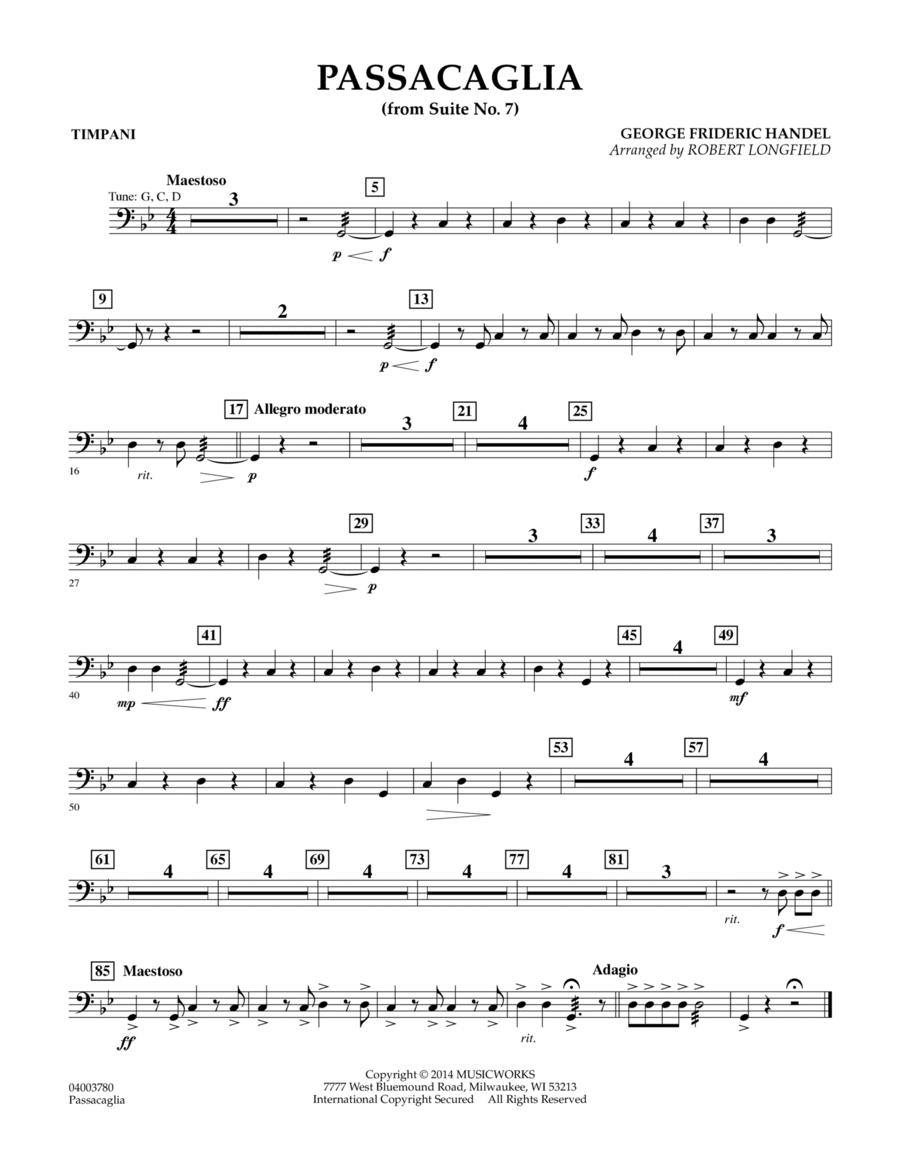 Passacaglia (from Suite No. 7) - Timpani
