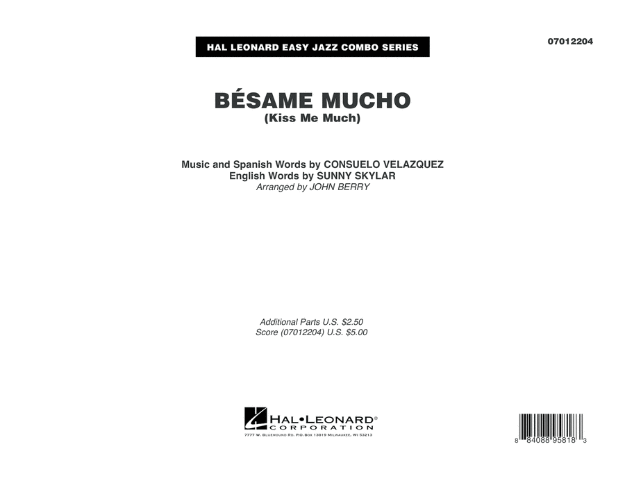 Besame Mucho (Kiss Me Much) - Conductor Score (Full Score)