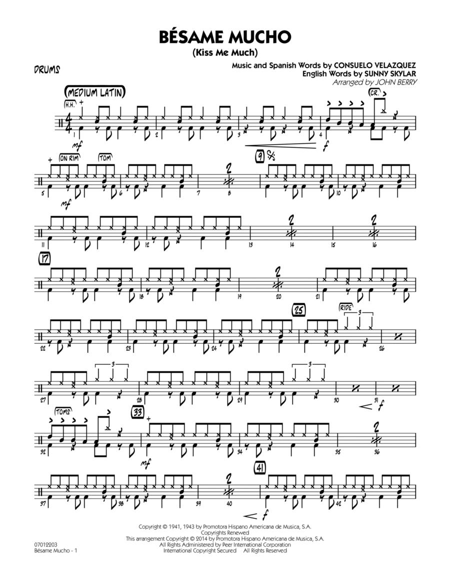 Besame Mucho (Kiss Me Much) - Drums