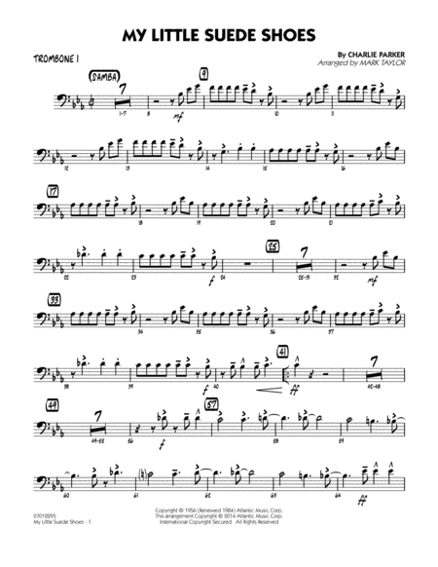 My Little Suede Shoes - Trombone 1