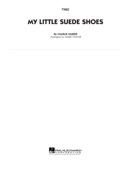 My Little Suede Shoes - Piano