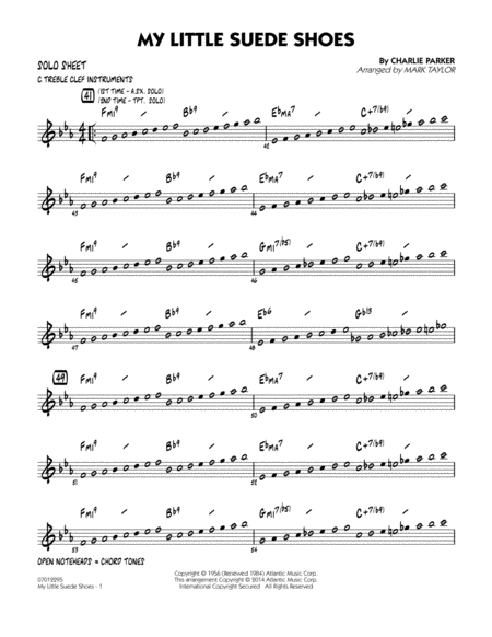 My Little Suede Shoes - C Solo Sheet