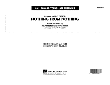 Nothing from Nothing - Conductor Score (Full Score)