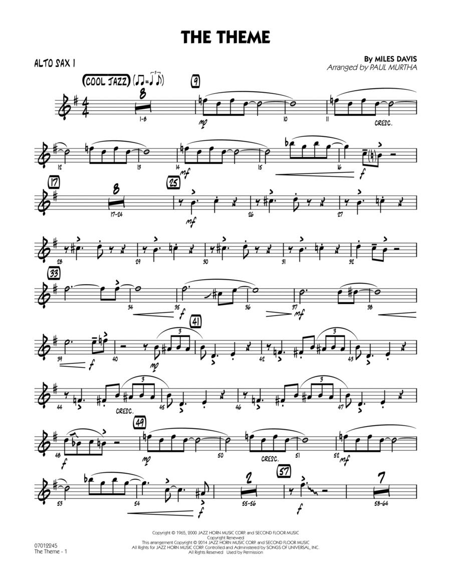 The Theme - Alto Sax 1