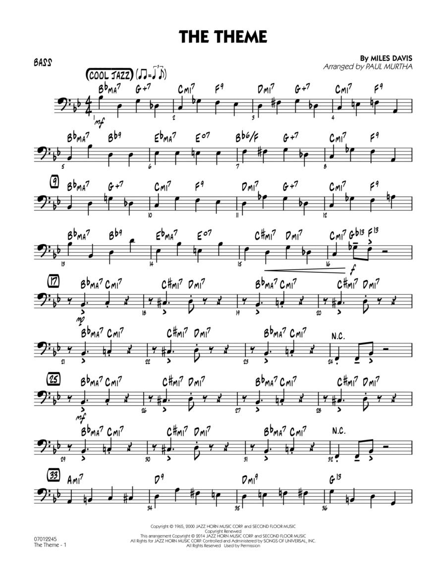 The Theme - Bass