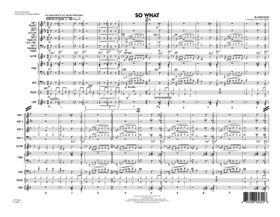 So What - Conductor Score (Full Score)