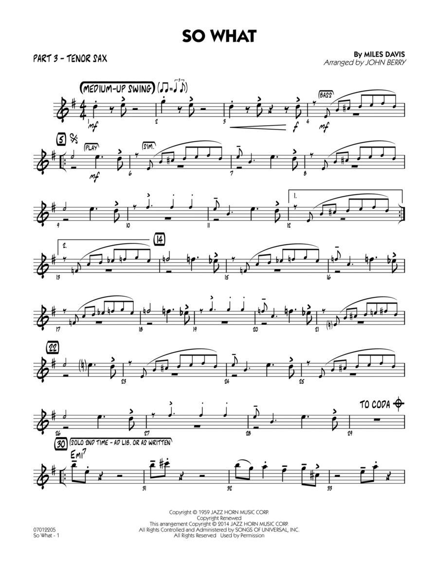 So What - Part 3 - Bb Tenor Sax