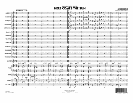 Here Comes the Sun - Conductor Score (Full Score)
