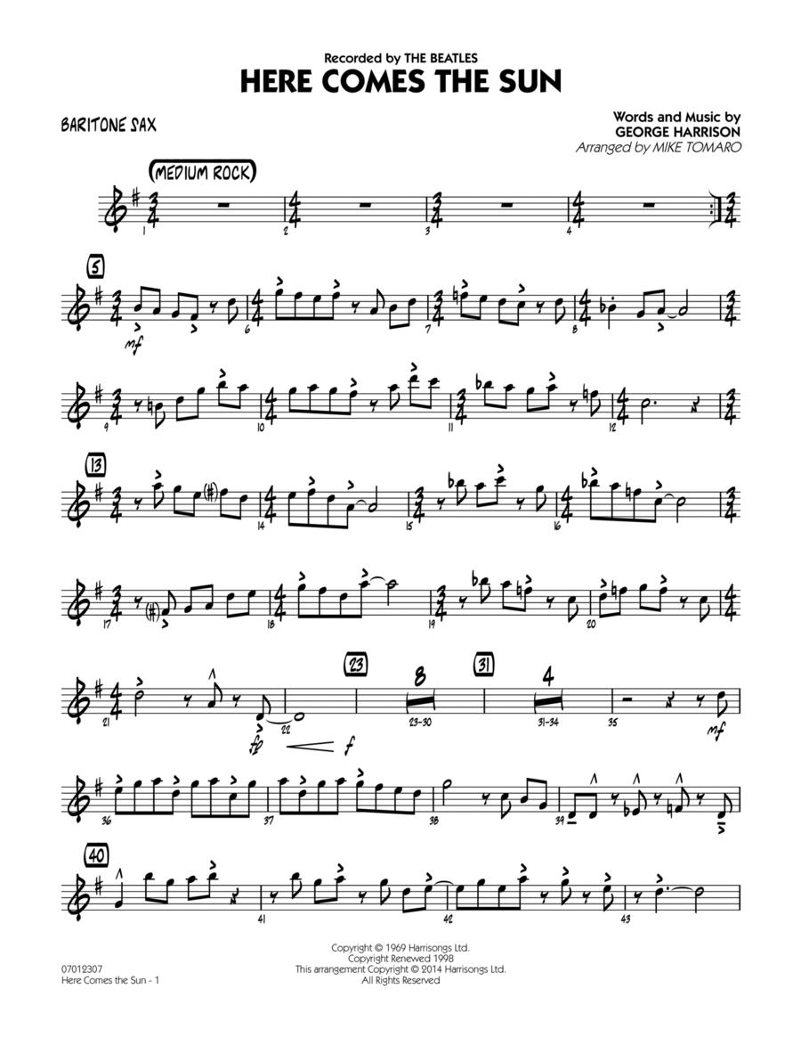 Here Comes the Sun - Baritone Sax
