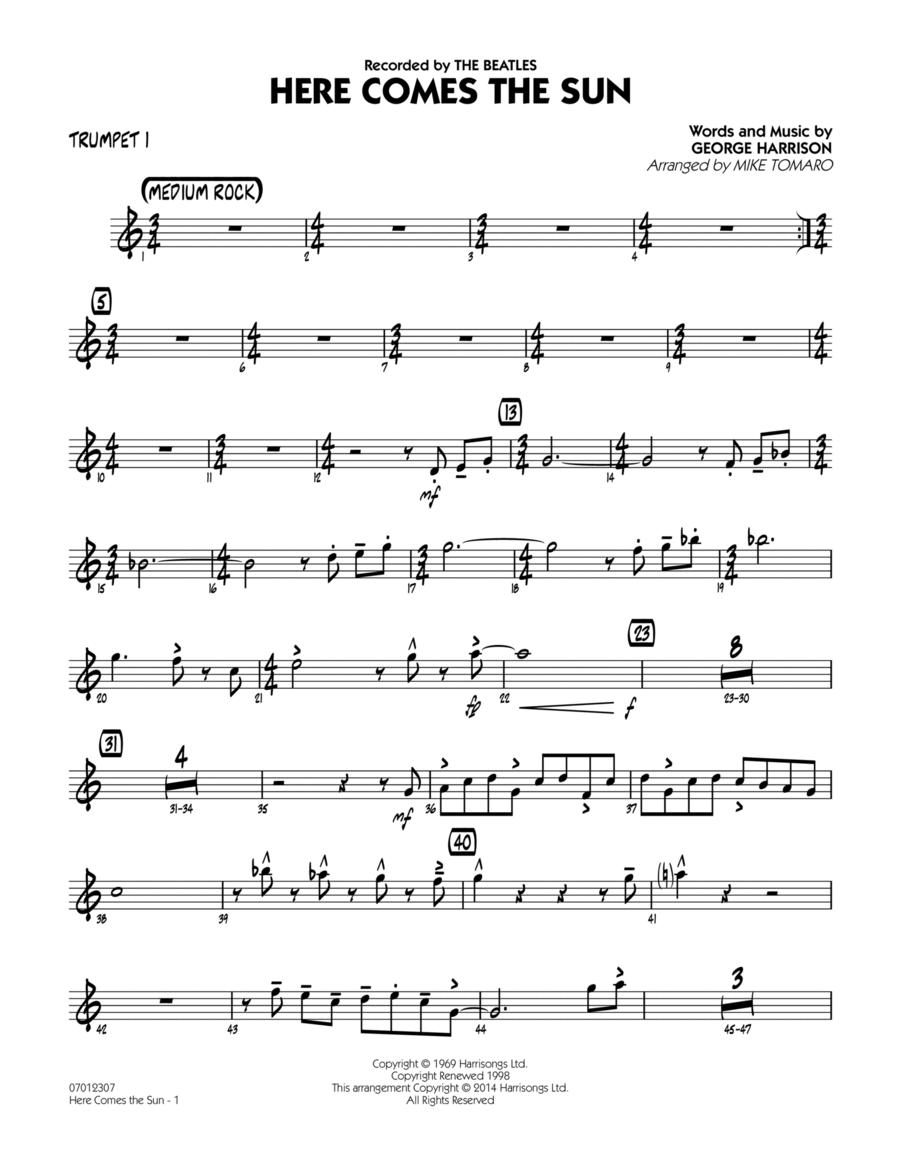 Here Comes the Sun - Trumpet 1