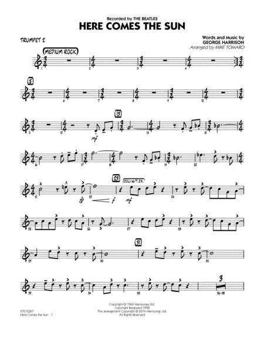 Here Comes the Sun - Trumpet 2
