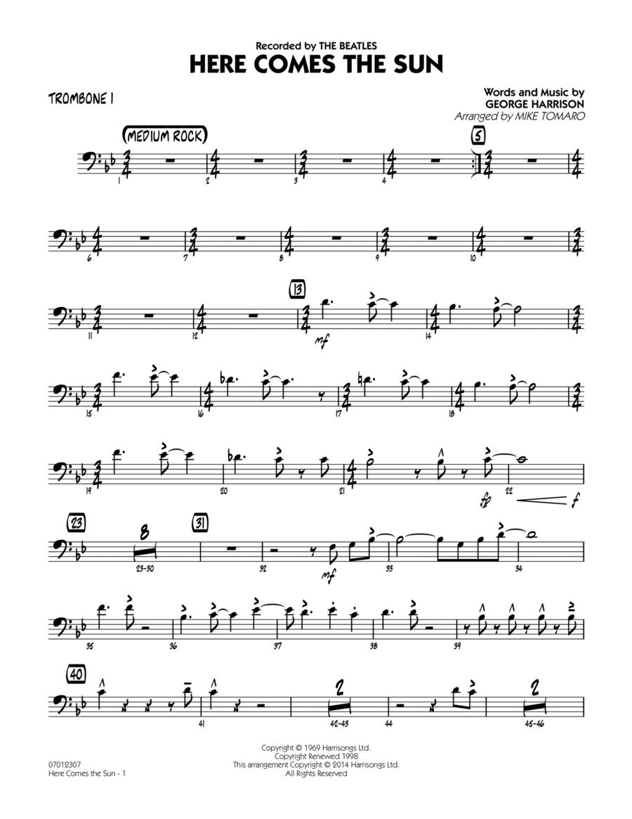 Here Comes the Sun - Trombone 1