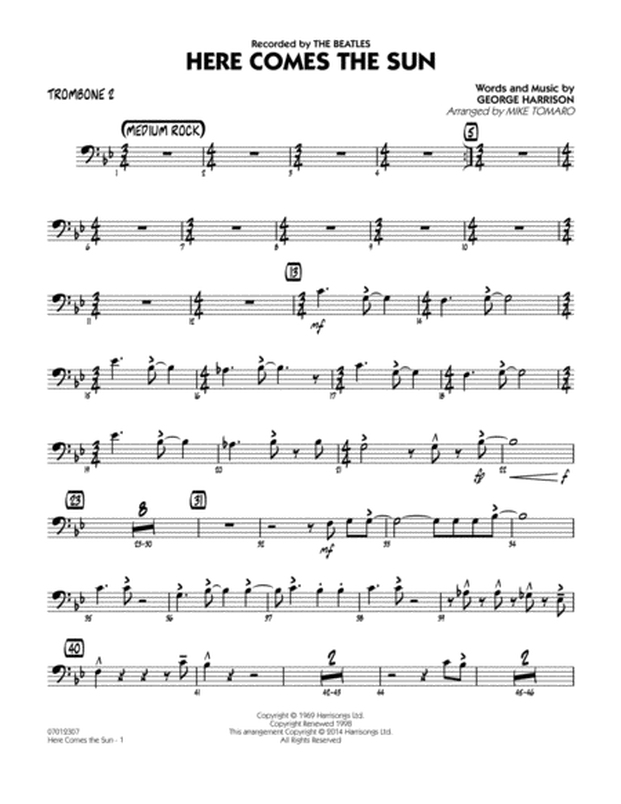 Here Comes the Sun - Trombone 2