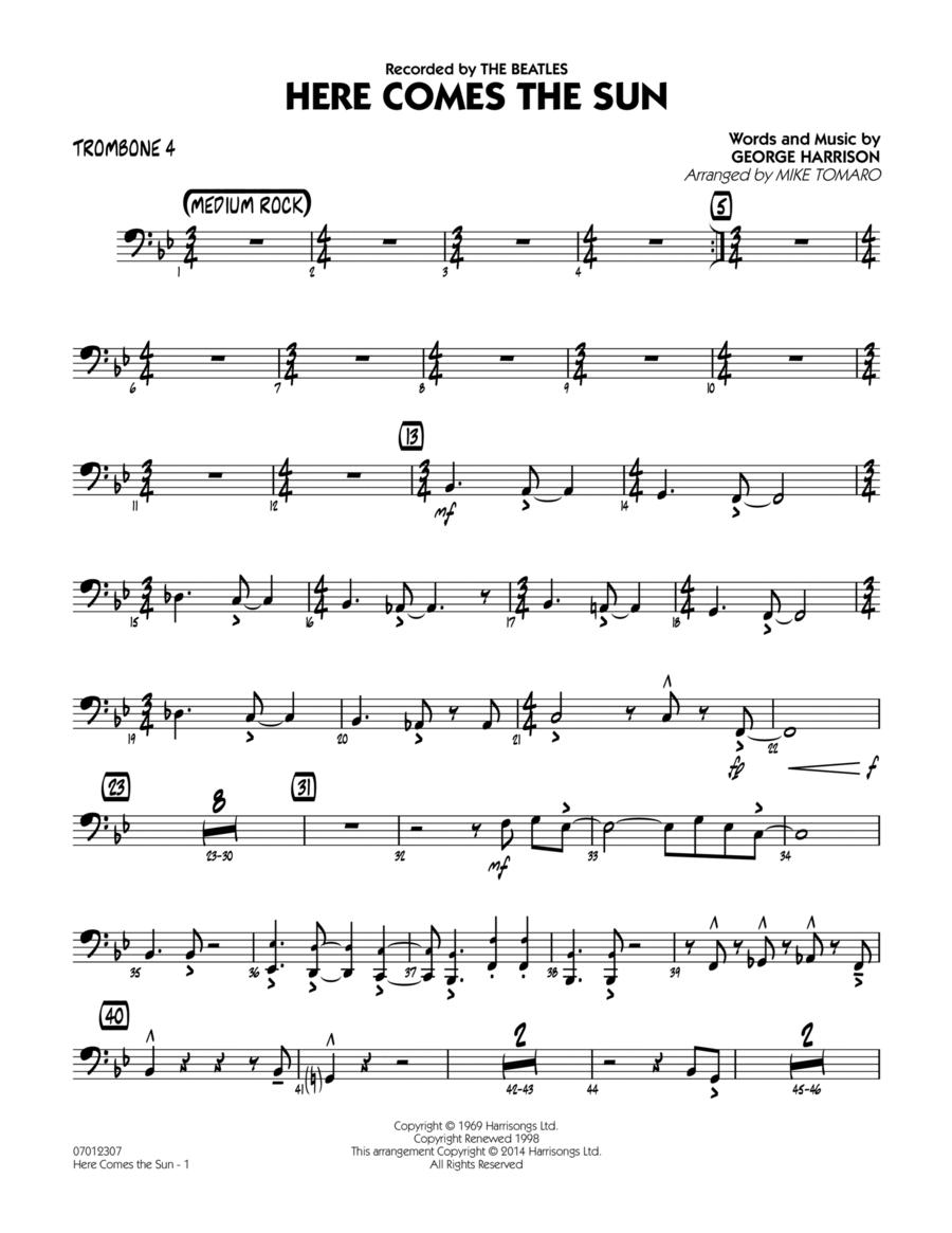 Here Comes the Sun - Trombone 4
