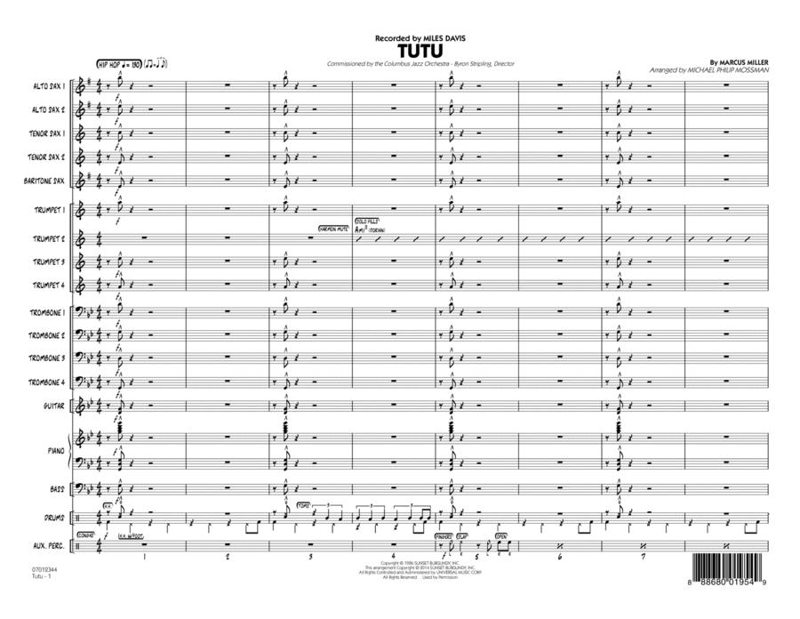 Tutu - Conductor Score (Full Score)