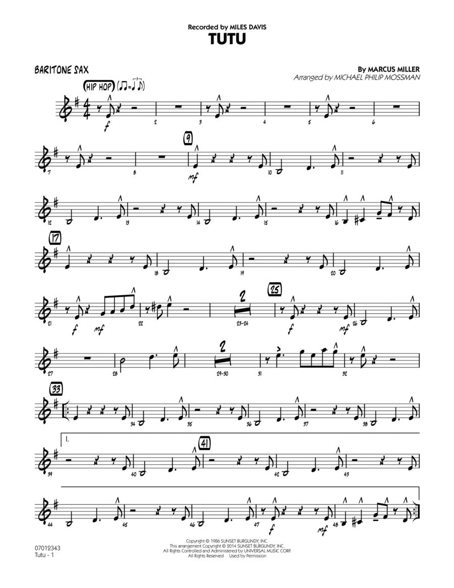 Tutu - Baritone Sax