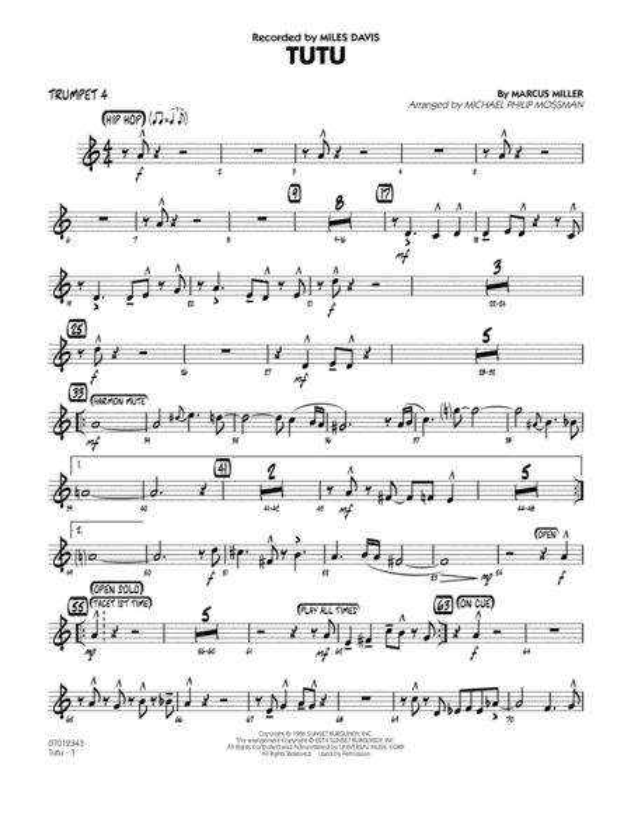 Tutu - Trumpet 4