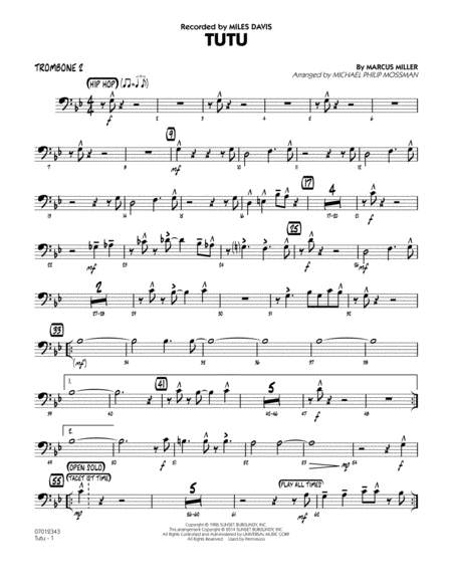 Tutu - Trombone 2