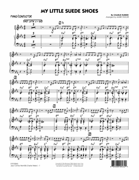 Jazz Combo Pak #38 (Charlie Parker) - Piano/Conductor Score