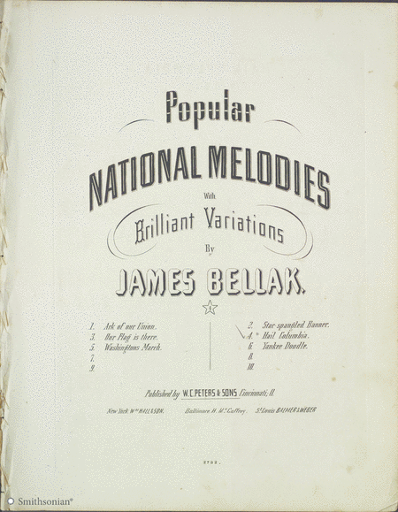 Popular National Melodies with Brilliant Variations: Hail Columbia