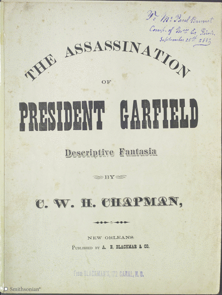 The Assassination of President Garfield Descriptive Fantasia