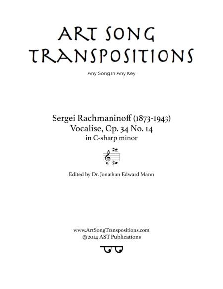 Vocalise, Op. 34 no. 14 (C-sharp minor)