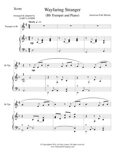 WAYFARING STRANGER (Bb Trumpet/Piano and Trumpet Part)